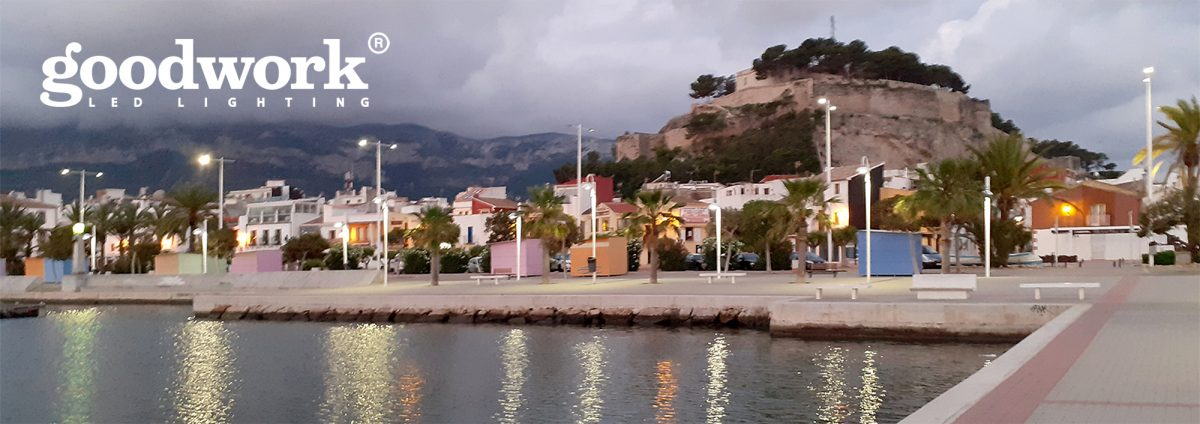 PORT OF DÉNIA. Lighting of the Seafront Promenade
